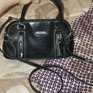 Small Black Minicci Purse w/ Removable Strap